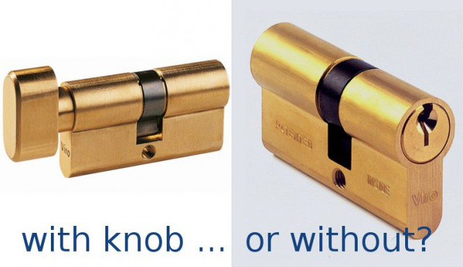 cylinder with knob vs without